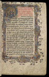 Historiated Initial And Border, In The Evesham Pontifical